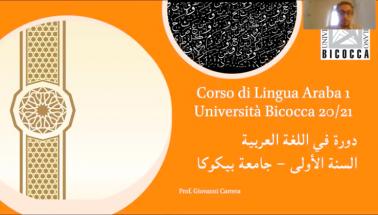 screenshot video studiare arabo bicocca